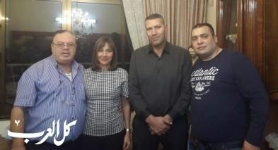 رفيطال وسعد يهنئان رئيس مجلس يافة الناصرة