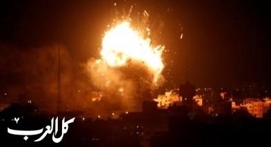 فيديو- الطيران الإسرائيلي يقصف ويدمر مقر الاقصى