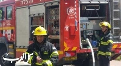 اندلاع حريق داخل شاحنة في الرامة