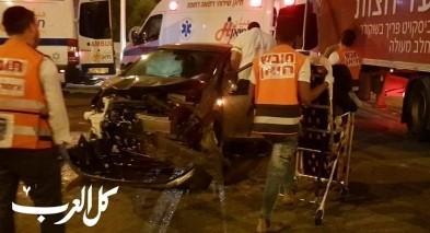 اصابة 6 اشخاص بحادث طرق على مفرق البروة