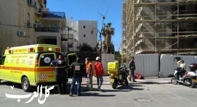 إصابة عامل في ورشة بناء في تل ابيب