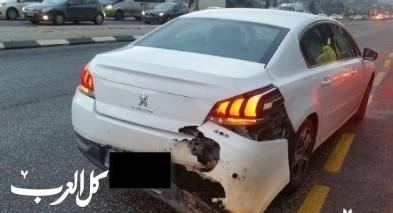 حادث طرق على شارع 65 عند مفرق ميعامي
