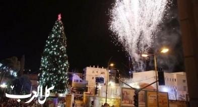 الناصرة: الاستعداد للاحتفال بإضاءة شجرة الميلاد