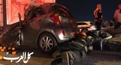 مصرع شخصين في حادث طرق مروّع قرب مفترق كيسم على شارع رقم 6