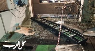 اندلاع حريق داخل صالون للحلاقة في كرمئيل