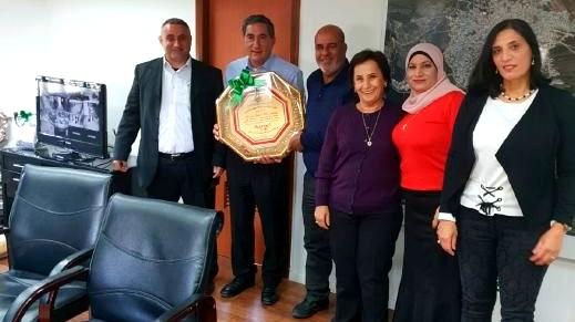 لجنة عمال مجلس اكسال تكرم الرئيس محمد شلبي