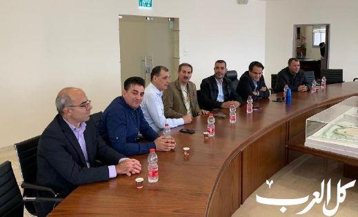 صفوت أبو ريا يستقبل قنصل روسيا في حيفا