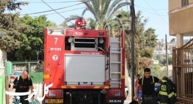 إحالة شخص من الرينة للمستشفى جراء حريق