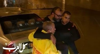 الاطفاء والانقاذ: تخليص عالقين بسبب الأمطار