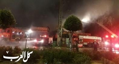 كفرقاسم: اندلاع النيران في عدة محلات تجارية لاسباب غير معروفة