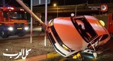 إصابة سائق سيارة أجرة جرّاء حادث طرق صعب قرب حيفا