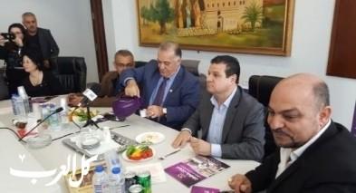 المشتركة بزيارة تهنئة لرئيس بلدية الناصرة