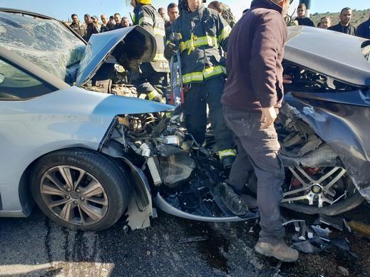 حادث طرق قرب حوسين في الضفة