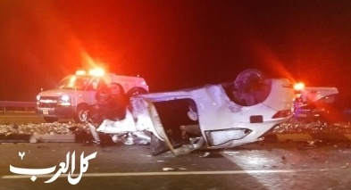 اصابة شاب بانقلاب سيارة قرب مفرق عميعاد في الشمال