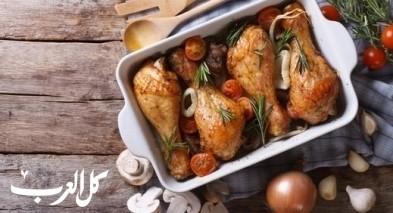 صينية الدجاج بالبصل.. صحتين وعافية