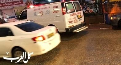 اصابة 3 اشخاص بحادث طرق في مدخل مدينة طمرة
