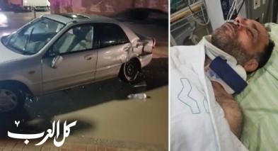 سيدة من قلنسوة: دورية الشرطة صدمت سيارة زوجي