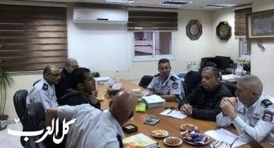 جلسة بين بلدية طمرة وقيادة الشمال بسلطة الاطفاء