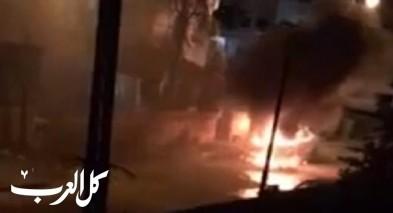 قلنسوة: اضرام النيران بسيارة وإطلاق عيارات نارية