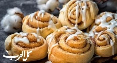 أطيب الحلويات من مطبخنا: سينابون رول
