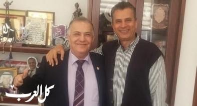 د. نادر بطو ابن الناصرة يهنئ لرئيس البلدية