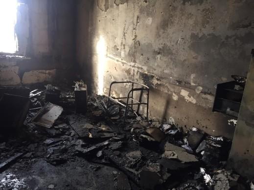 اعتقال مشتبه باضرام النار بمبنى مجلس عرعرة النقب