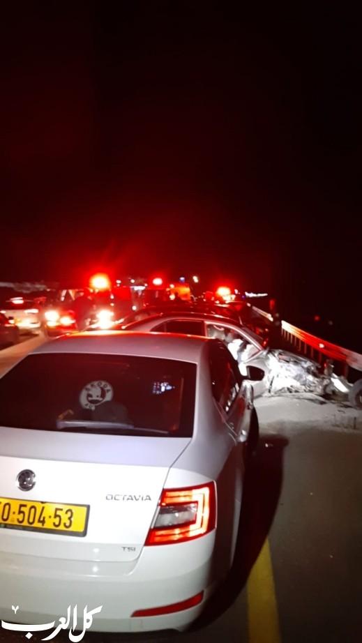 حادثا طرق بالقرب من بلدة شعب