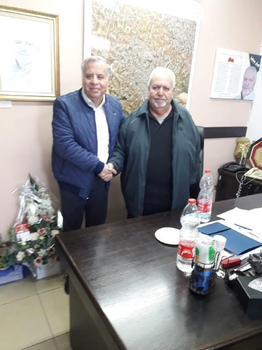 جلسة عمل بين سلطة الإطفاء ورئيس بلدية شفاعمرو