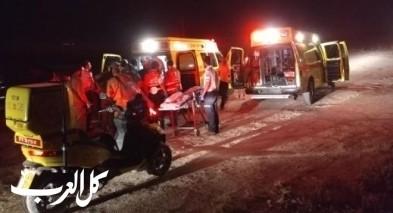اصابات خطيرة بحادث طرق على شارع 85 قرب مفرق حلفتا