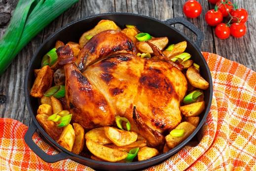 حضّري لعائلتك دجاج مشوي مع الخضار