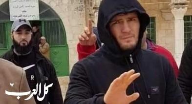 المصارع الروسي حبيب محمدوف يزور المسجد الاقصى