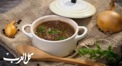 شوربة البصل التقليدية.. صحة وهنا