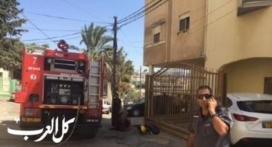 اندلاع حريق في مبنى قيد الإنشاء في الشيخ دنون
