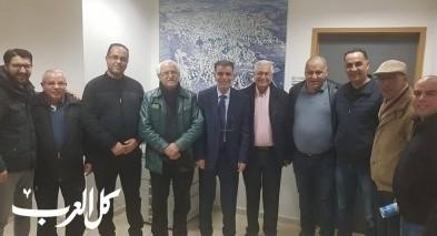 وفد رفيع من التجمع يزور رئيس مجلس عين ماهل