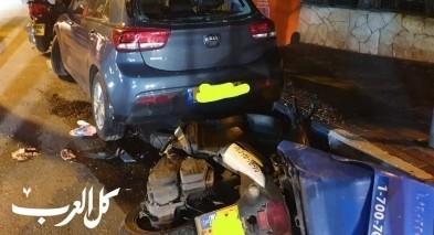 حيفا: اصابة سائق دراجة نارية بجراح متوسطة بحادث طرق