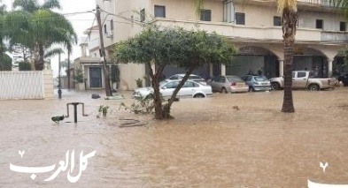الأمطار الغزيرة تتسبب بفيضانات في الطيرة