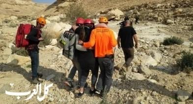 انقاذ طالبة أصيبت خلال رحلة بمنطقة النقب