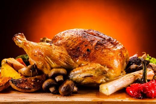 طبق اليوم: دجاج مشوي مع الخضار