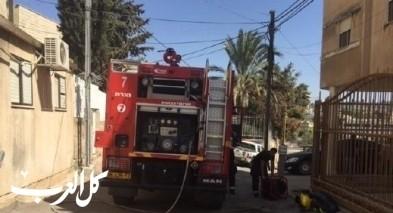 اندلاع حريق داخل منزل في حرفيش