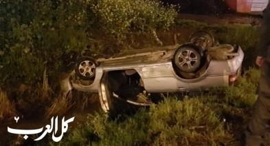 حادث طرق في قلنسوة يسفر عن اصابة شابين ونفوق حصان
