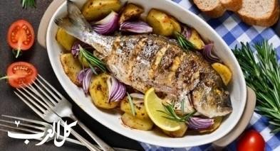 سمكة محشية بالفرن.. صحتين وعافية