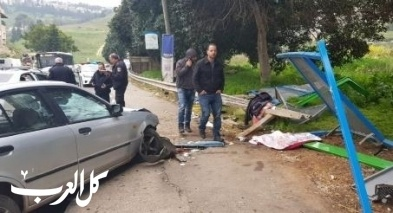 الرينة: اصابة 5 اشخاص بجراح بحادث مروع