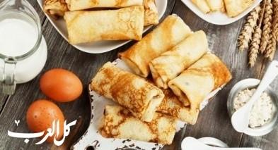 كريب بالجبن لفطور شهي ومميز..صحتين