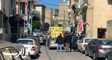 إصابة فتاة إثر سقوطها من ارتفاع في جلجولية