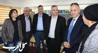 سخنين: وفد وزارة التربية والتعليم يزور مدرسة البطوف