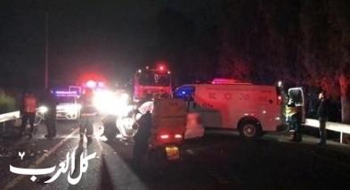 إصابة رجل في حادث طرق على مفرق زفولون