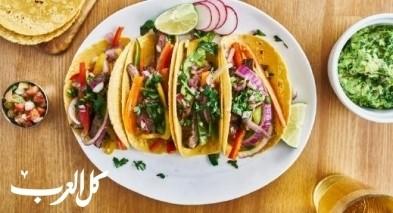 تاكو مكسيكي بالدجاج والخضار.. لذيذ وسريع
