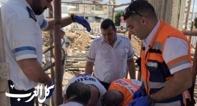 كفرياسيف: إصابة شاب أثر سقوطه بورشة بناء