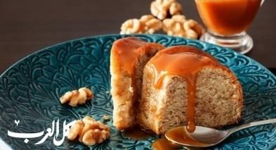 كعكة البرتقال بصلصة الكراميل..صحتين