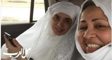 الراقصة دينا تؤدي مناسك العمرة.. صور